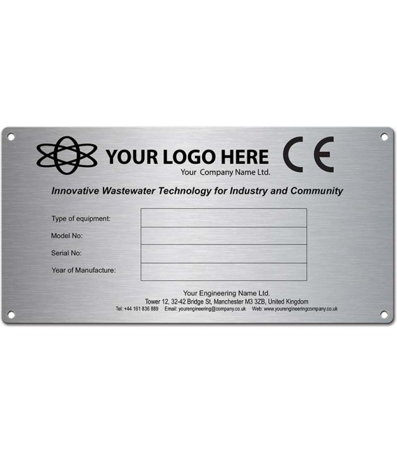 Stainless Steel CE Generic Name Plate