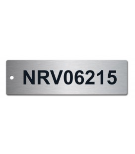 Stainless Steel Tag 140mm x 40mm