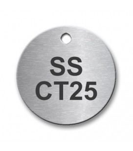 Circular 25mm Stainless Steel Tag (Brush Polished)
