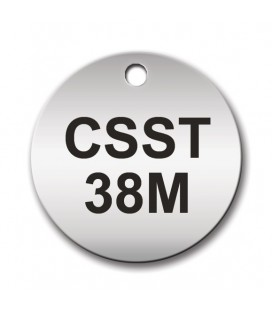 Circular 38mm Stainless Steel Tag