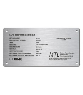 Stainless Steel Name Plate 150mm x 75mm