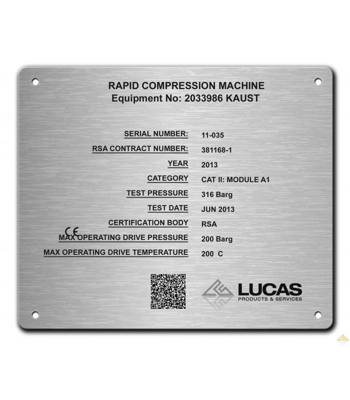 Stainless Steel Name Plate 180mm X 150mm Laser Engraved