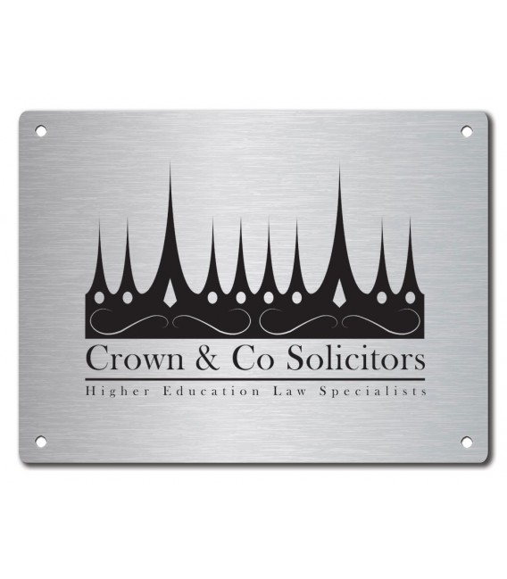 Stainless Steel Name Plate 300mm x 210mm