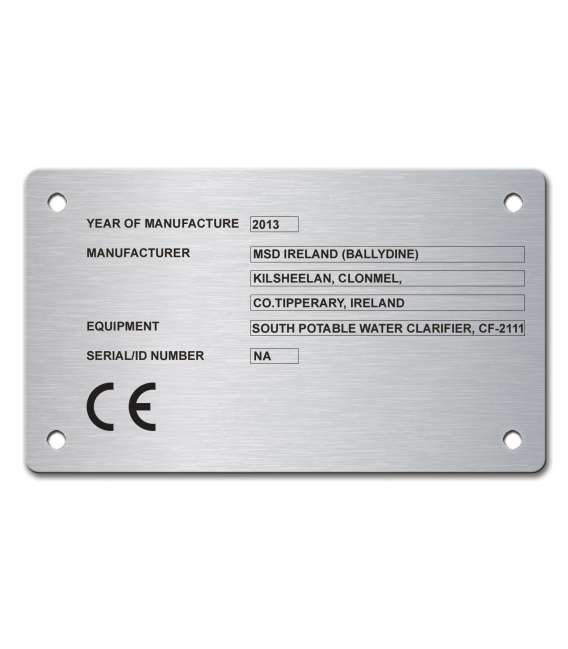 Stainless Steel Name Plate 120mm x 70mm
