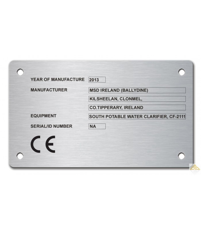 Stainless Steel Name Plate 120mm X 70mm Laser Engraved Co Uk
