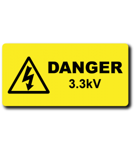 Danger 3.3kV Label