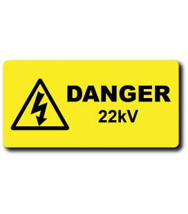 Danger 11kV Label