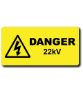 Danger 22kV Label
