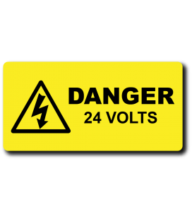 Danger 24 Volts Label