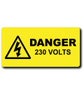 Danger 230 Volts Label