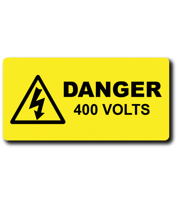 Danger 400 Volts Label