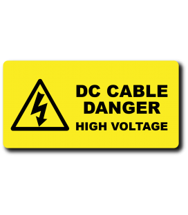 Danger DC Cable High Voltage