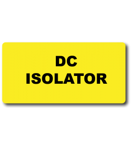 DC Isolator Label