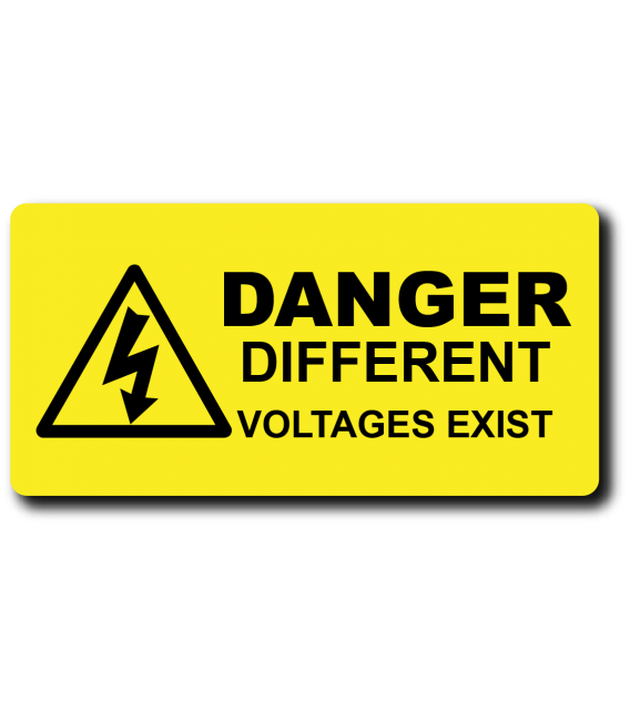 Danger Different Voltages Exist Label