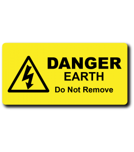 Danger EARTH Do Not Remove Label