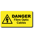 Danger Fibre Optic Cables Label
