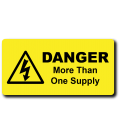 Danger More Than One Supply Label