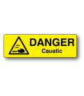 Danger Caustic Label