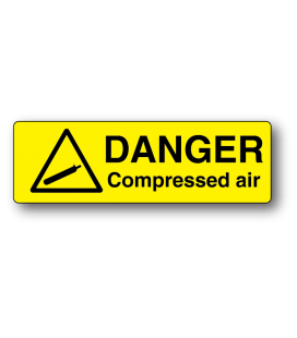 Danger Compressed Air Label