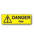 Danger Gas Label