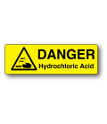 Danger Hydrochloric Acid Label