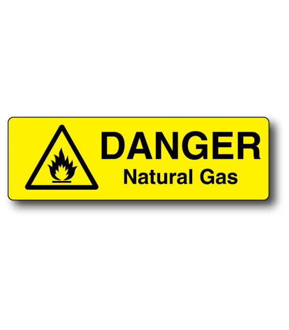 Danger Natural Gas Label
