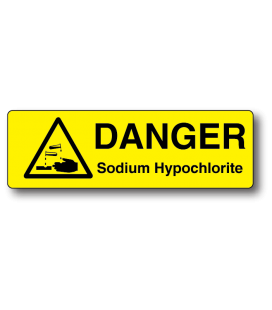 Danger Sodium Hypochlorite Strip Label
