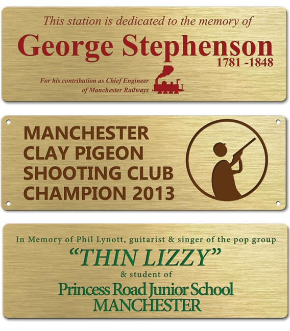 Brass Plate 150mm x 50mm - Mechanically Engraved