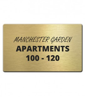 Brass Plate 250mm x 50mm - Mechanically Engraved