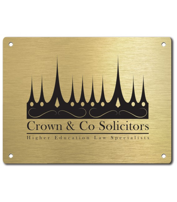 Brass Plate 400mm x 300mm - Mechanically Engraved