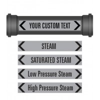 Custom Rectangular Pipe Markers Pack ( X 10)