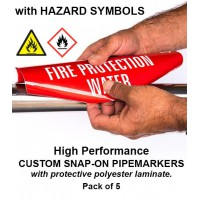 High Performance Custom Snap Pipe Markers Pack (with Symbols)