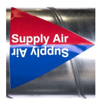 Duct Pipe ID Labels Pack of 10