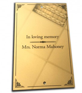 Brass Plate 150mm x 200mm - Mechanically Engraved
