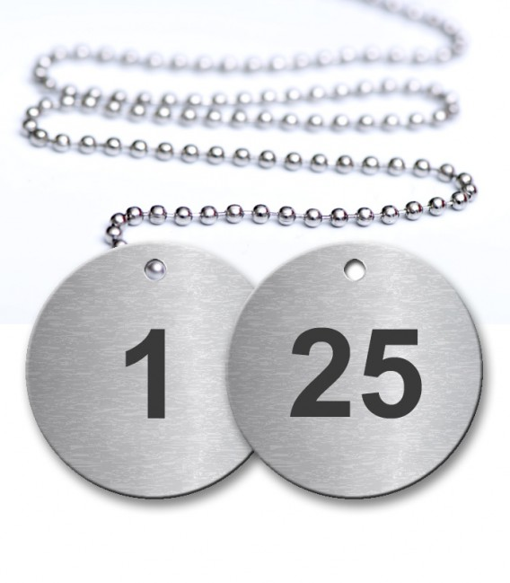1-25 Numbered Tag - Engraved Stainless Steel