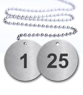 1-25 Numbered Tags Pack - Engraved Stainless Steel