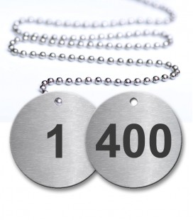 1-400 Pre-Defined Numbered Tags