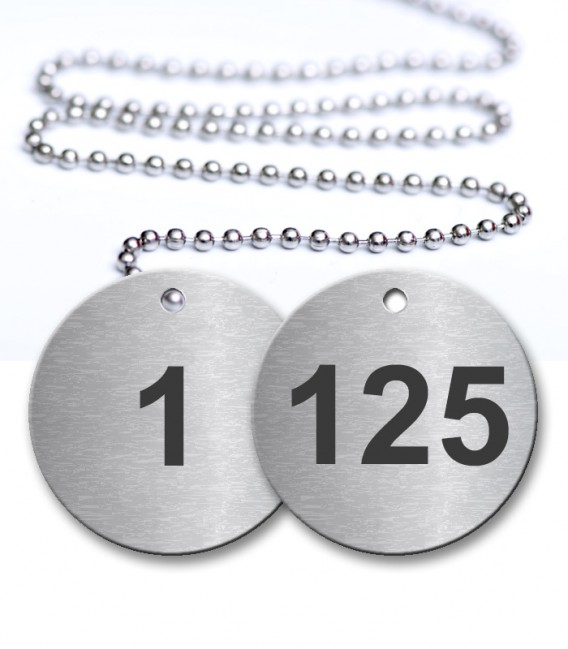 1-125 Pre-Defined Numbered Tags