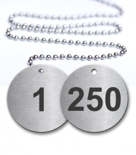 1-250 Pre-Defined Numbered Tags