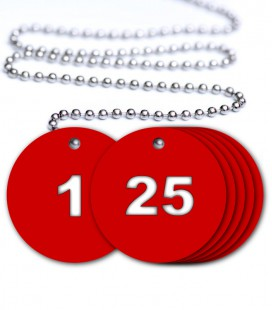 Numbered Traffolyte Tags - Pack of 25