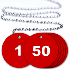 Numbered Valve Tags - 50 Pack