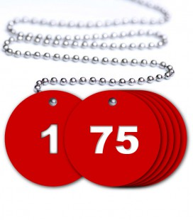 Numbered Valve Tags - 75 Pack