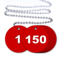 Numbered Valve Tags - 150 Pack