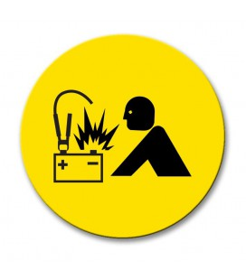 Battery Jump - Engraved Traffolyte Machine Safety Labels