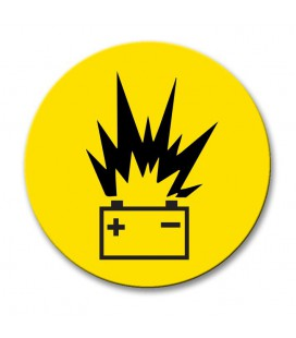 Battery - Engraved Traffolyte Machine Safety Labels