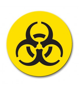 Bio Hazard - Engraved Traffolyte Machine Safety Labels
