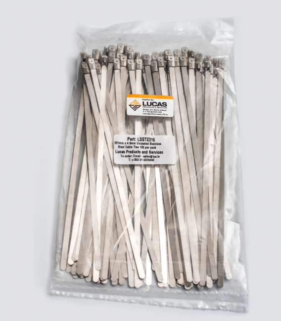 3aa8deb8804b Uncoated Stainless Steel Cable Ties 100 per Pack