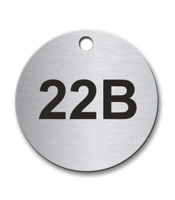 Circular 40mm Stainless Steel Tag Laser Engraved Co Uk