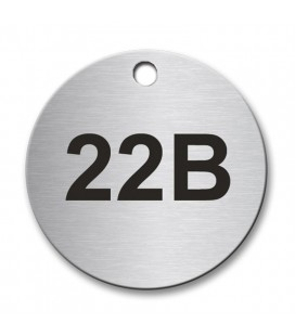 Circular 40mm Stainless Steel Tag