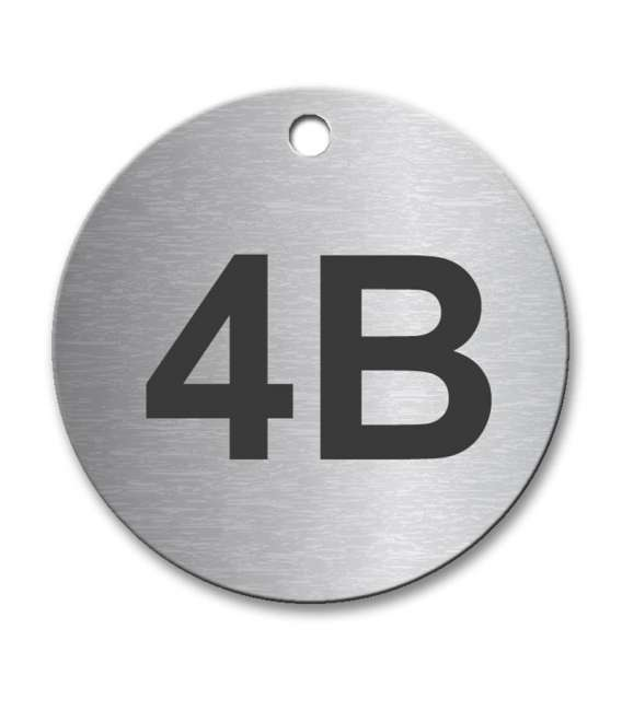 Circular 50mm Stainless Steel Tag